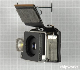 Una mirada más cercana en el módulo de la cámara.